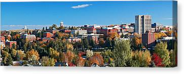 Wsu Autumn Panorama Canvas Print by David Patterson