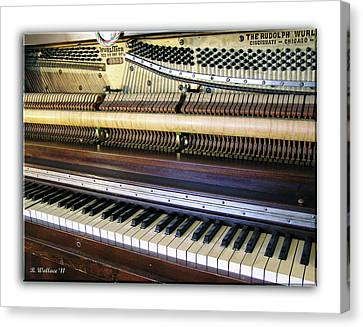 Wurlitzer Piano Canvas Print by Brian Wallace