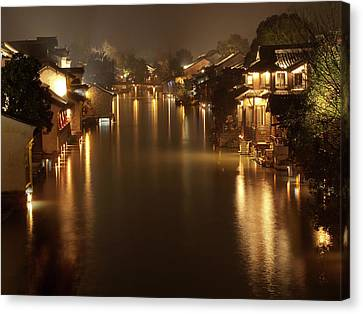 Wuzhen - Venice Of The Far East Canvas Print by Andrew Soundarajan