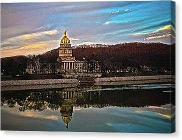 Wv State Capitol At Dusk Canvas Print