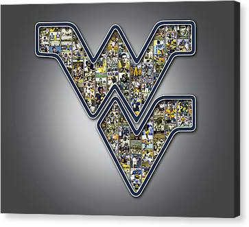 West Virginia University Football Canvas Print by Fairchild Art Studio
