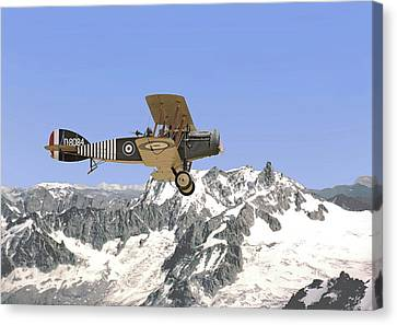 Canvas Print featuring the photograph Ww1 - Bristol Fighter by Pat Speirs