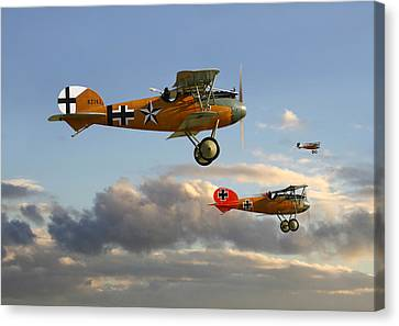 Ww1 - Fighting Colours 3 Canvas Print by Pat Speirs
