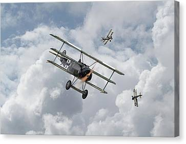 Canvas Print featuring the photograph Ww1 - Fokker Dr1 - Predator by Pat Speirs