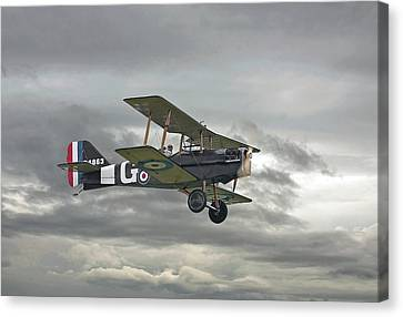 Canvas Print featuring the digital art Ww1 - Icon Se5 by Pat Speirs