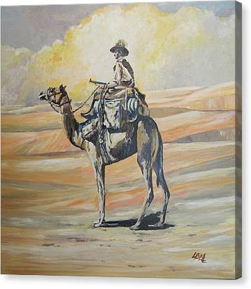 Ww1 Light Horse Cameleer Canvas Print by Leonie Bell
