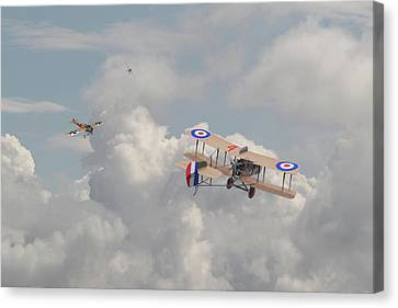 Ww1 - The Fokker Scourge - Eindecker Canvas Print by Pat Speirs