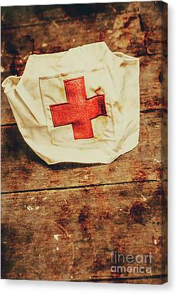 Fabric Canvas Print - Ww2 Nurse Hat. Army Medical Corps by Jorgo Photography - Wall Art Gallery