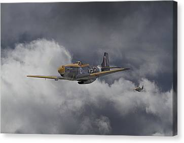 Ww2 - P-51 - I Think We-re Lost Canvas Print by Pat Speirs