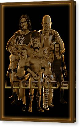 Wwe Legends By Gbs Canvas Print by Anibal Diaz