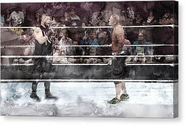 Wwe Wrestling 101 Canvas Print