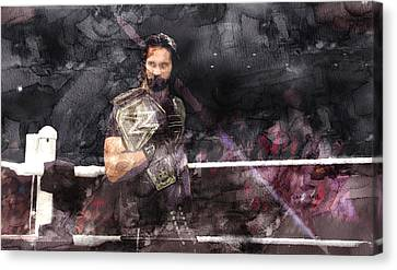 Wwe Wrestling 107 Canvas Print