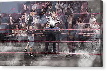Wwe Wrestling 1105 Canvas Print