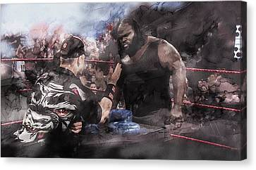 Wwe Wrestling 20385 Canvas Print by Jani Heinonen