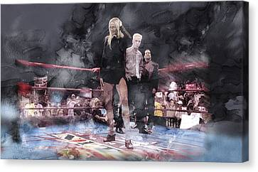 Wwe Wrestling 21 Canvas Print