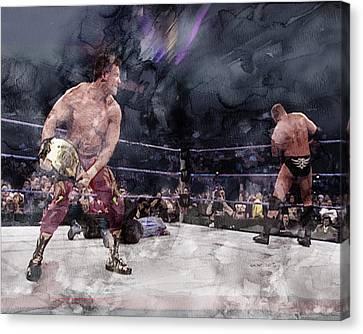 Wwe Wrestling 301 Canvas Print