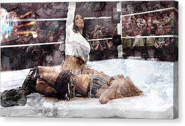 Wwe Wrestling 302 Canvas Print