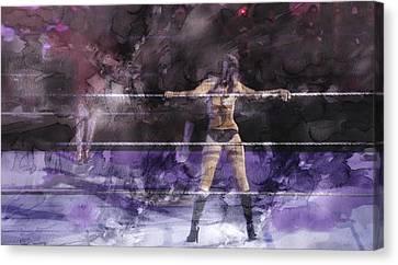 Wwe Wrestling 334 Canvas Print