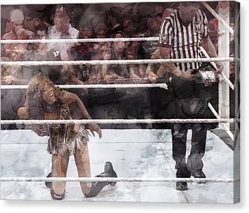 Wwe Wrestling 52 Canvas Print