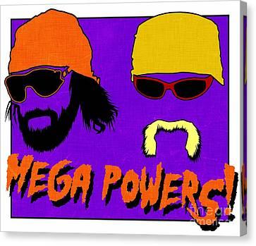 Randy Savage Canvas Print - Wwf -- Mega Powers by Kyle West
