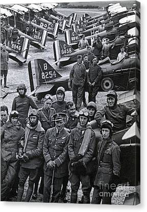 Wwi, No. 1 Raf Squadron, 1918 Canvas Print by Science Source