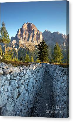 Wwi Trenches - Dolomites Canvas Print by Brian Jannsen