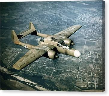 Wwii, Northrop P-61 Black Widow, 1940s Canvas Print by Science Source