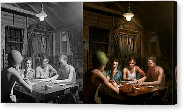 Wwii - The Card Game 1943 - Side By Side Canvas Print