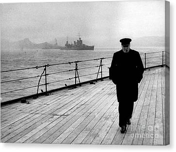 Prime Canvas Print - Wwii, Winston Churchill, U.k. Prime by Science Source