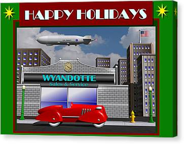 Wyandotte Happy Holidays Canvas Print by Stuart Swartz