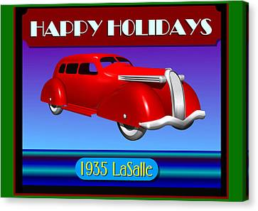 Wyandotte Lasalle Happy Holidays Canvas Print by Stuart Swartz