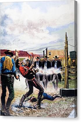 Gunman Canvas Print - Wyatt Earp And The Battle Of The Ok Corral by English School