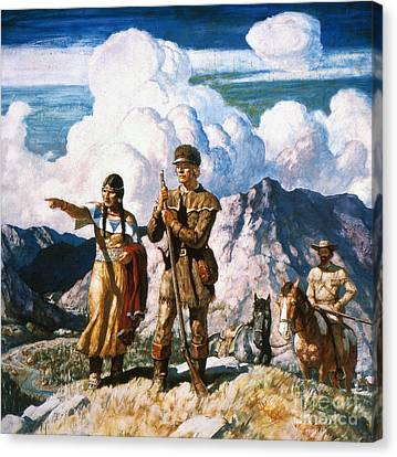 Wyeth: Sacajawea Canvas Print by Granger
