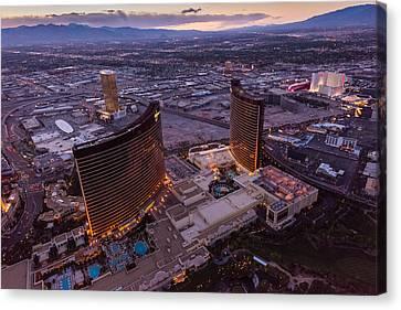 Wynn Aloft Las Vegas N V Canvas Print by Steve Gadomski