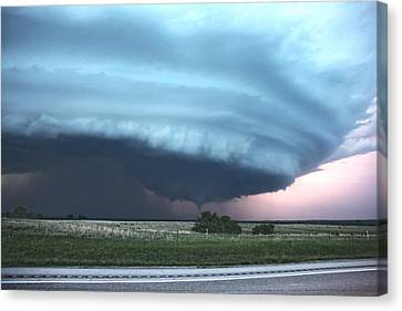 Canvas Print featuring the photograph Wynnewood Tornado by James Menzies