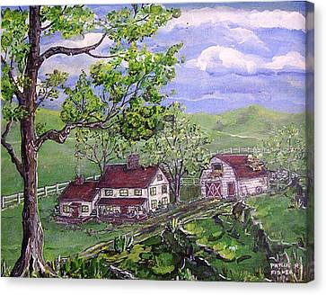 Wyoming Homestead Canvas Print by Phyllis Mae Richardson Fisher