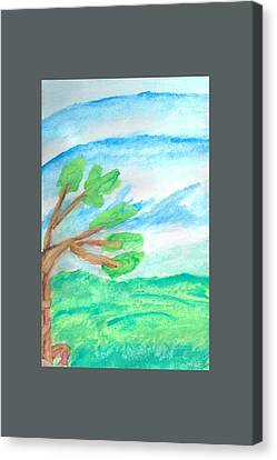 Clearing Canvas Print - Wyrmling Skyfish Wrapped Around A Tree by Andy Dreisewerd