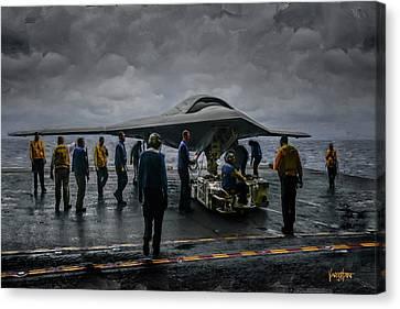 X-47b Uav  Canvas Print