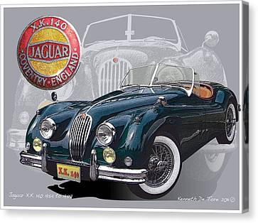 X K 140 Jaguar Canvas Print