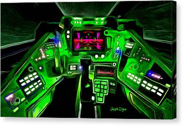 Display Canvas Print - X-wing Cockpit - Da by Leonardo Digenio