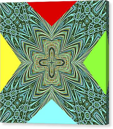 X With Colors Canvas Print by Susan Leggett