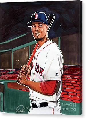 Boston Red Sox Canvas Print - Xander Bogaerts by Dave Olsen
