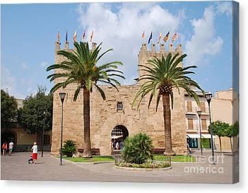 Xara Gate In Alcudia On Majorca Canvas Print