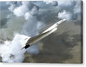 Xb-70 Test Flight Canvas Print