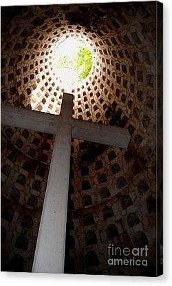 Xcaret Cemetery Catacomb Canvas Print by Angela Murray