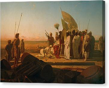 Xerxes At The Hellespont Canvas Print by Jean Adrien Guignet
