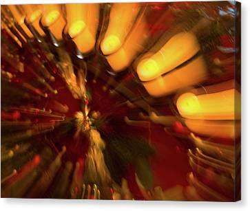 Canvas Print featuring the photograph Xmas Burst 1 by Rebecca Cozart