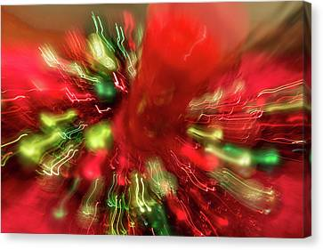 Xmas Burst 2 Canvas Print by Rebecca Cozart