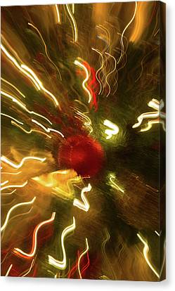 Canvas Print featuring the photograph Xmas Burst 3 by Rebecca Cozart