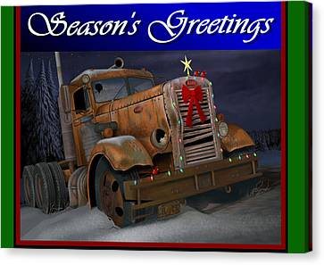 Xmas Pete Card Canvas Print by Stuart Swartz